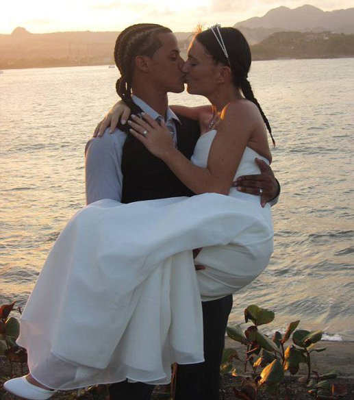 "Pictured is Adonis Rodriguez and new wife Julia at their wedding. A WOMAN has told how her boyfriend married another woman while she was giving birth to their baby. Heather McGillion, 24, had fallen for handsome Adonis Rodriguez while they both working as holiday reps in the Dominican Republic. After more than a year together, Heather, from Johnstone, Renfrewshire, fell pregnant and the pair made plans for family life on the Caribbean island. However after suffering complications during her pregnancy she decided to temporarily return home to Scotland to give birth but her partner was denied a visa. But as she welcomed her son Diego into the world, she was horrified after receiving a message on Facebook from a friend showing Adonis, 21, marrying a German tourist called Julia. Heather, a trained dancer, said: ""When I opened the message it felt like I had been hit by a double-decker bus. ""Adonis had his arms around a woman and she was wearing a wedding dress."""